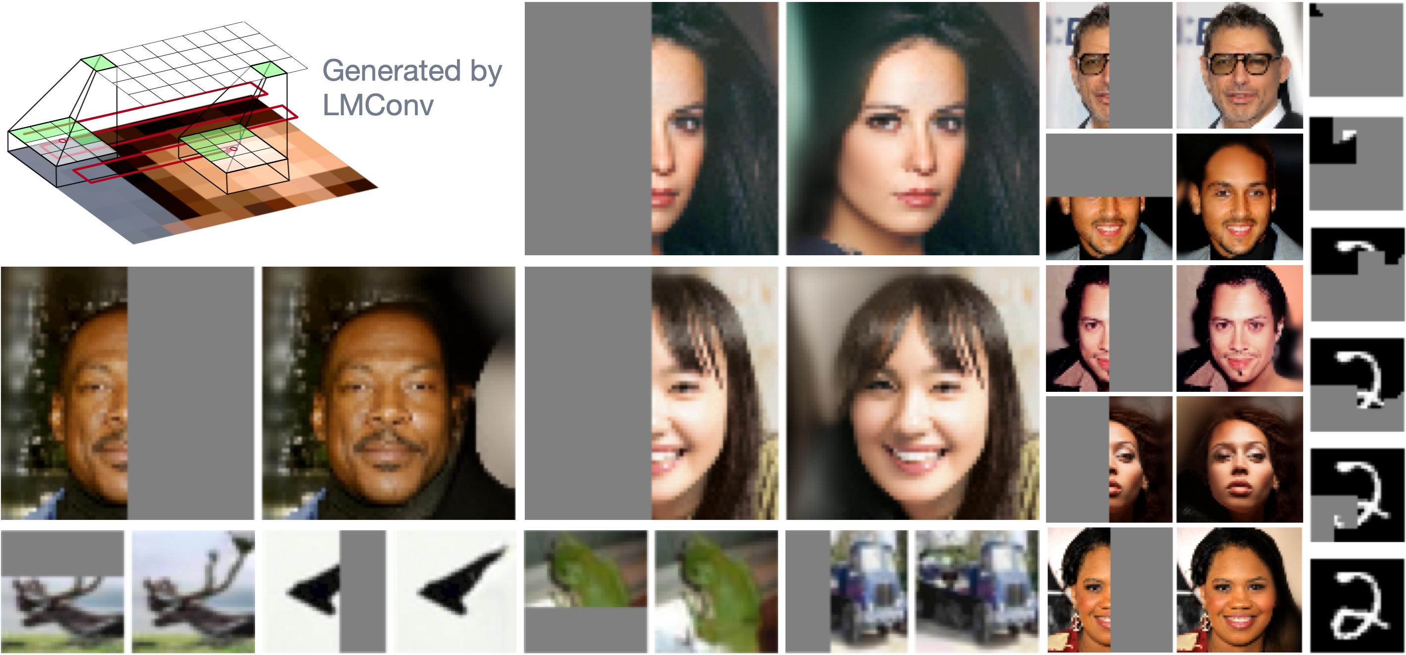 Locally Masked Convolution for Autoregressive Models